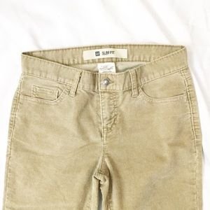 GAP Slim Fit Khaki Corduroy Pants